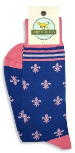 Fleur de Lis: Socks - Blue