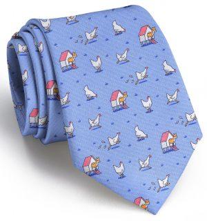 Fox in the Hen House: Tie - Blue