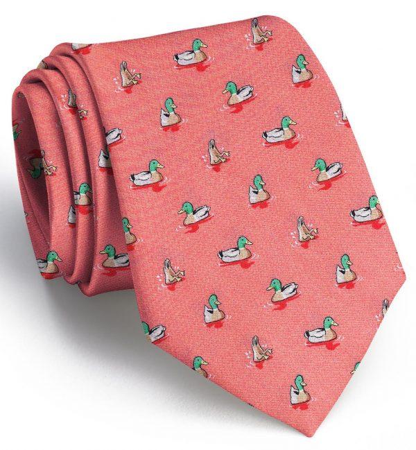 Downward Duck: Tie - Coral