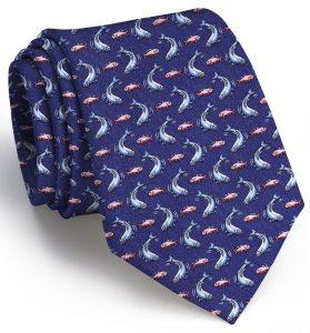 Tarpon Time: Tie - Navy