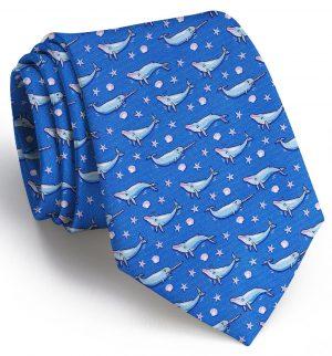Whale Tale: Tie - Blue