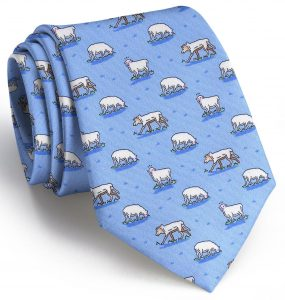 Wolf In Sheep's Clothing: Tie - Light Blue