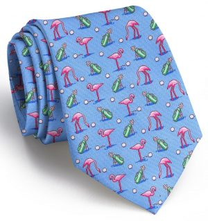 Flamingo Fairway: Tie - Blue