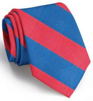 Clarkson Stripe: Tie - Red/Blue