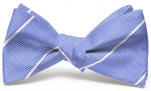 Sheffield Stripe: Bow - Blue with White