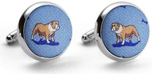 Bulldog Bonanza: Cufflinks - Light Blue