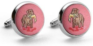 Duck Dogs: Cufflinks - Coral with Chocolate