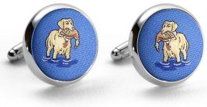 Duck Dogs: Cufflinks - Blue with Yellow