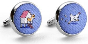 Fox In The Hen House: Cufflinks - Blue