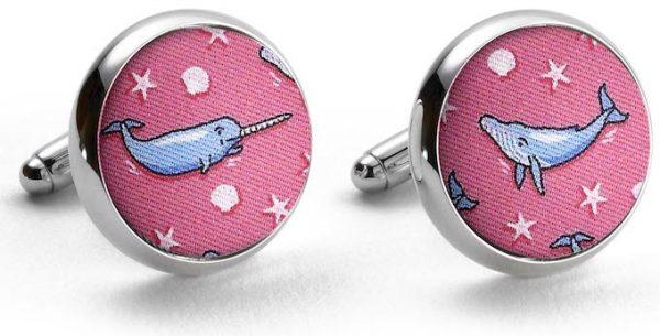 Whale Tale: Cufflinks - Fuchsia