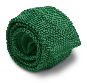 Italian Silk Knit: Tie - Green