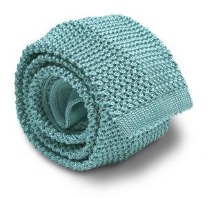 Italian Silk Knit: Tie - Aqua