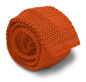 Italian Silk Knit: Tie - Orange