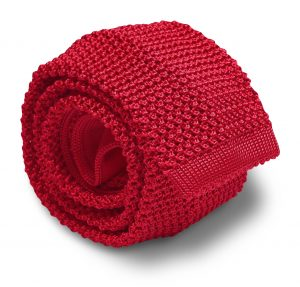 Italian Silk Knit: Tie - Red