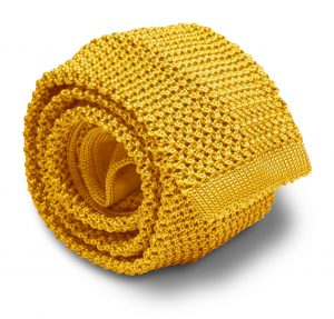 Italian Silk Knit: Tie - Yellow
