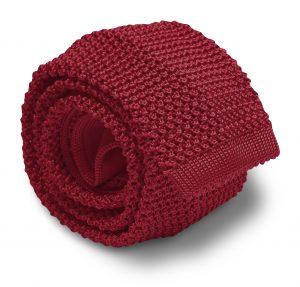 Italian Silk Knit: Tie - Maroon