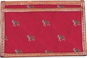 Bulldog: Card Wallet - Red
