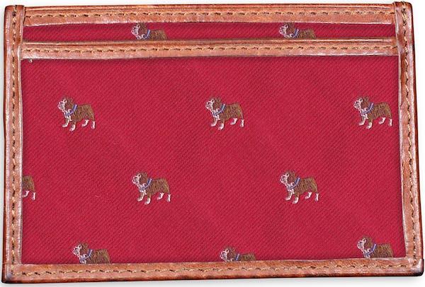 Bulldog: Card Wallet - Red