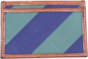 Clarkson Stripe: Card Wallet - Mint