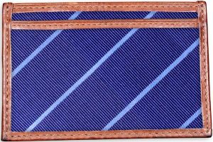 Sheffield Stripe: Card Wallet - Navy