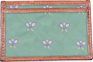 Tennis Racket: Card Wallet - Green