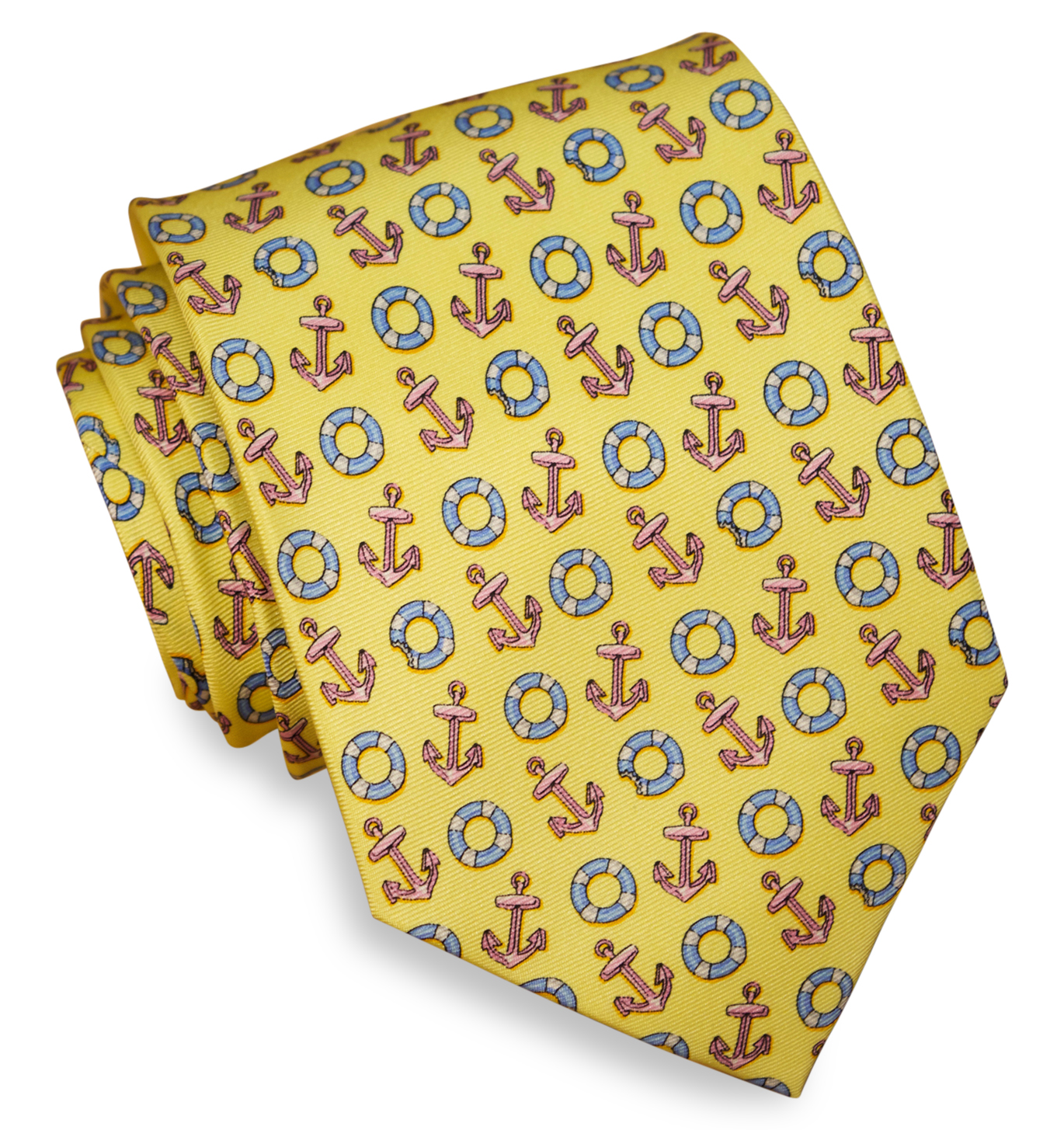 Anchors Aweigh: Tie - Pale Yellow