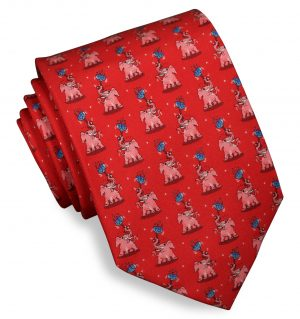 Pink Elephant: Tie - Red