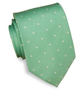 Classic Spots: Tie - Soft Green