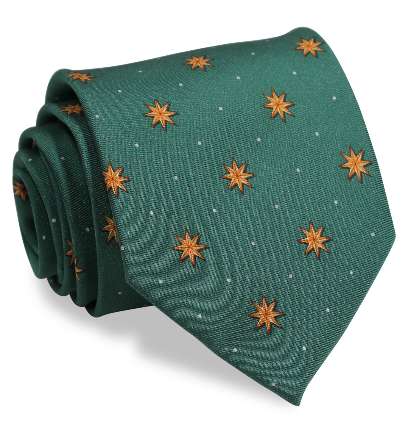 Starry Night: Tie - Green