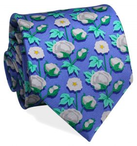 Cotton Boll: Tie - Blue