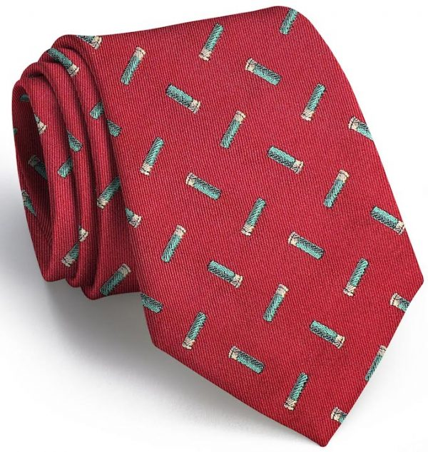 Shotgun Shell English Woven Pedigree: Tie - Red