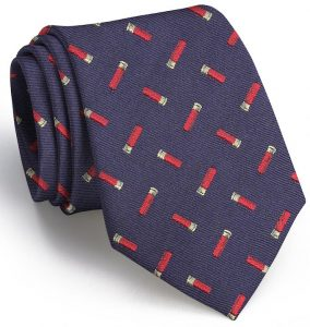Shotgun Shell English Woven Pedigree: Tie - Navy