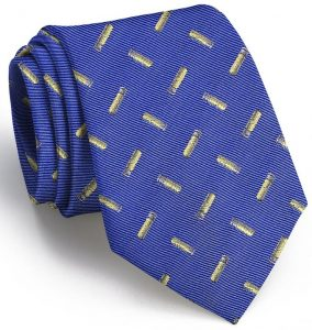 Shotgun Shell English Woven Pedigree: Tie - Blue