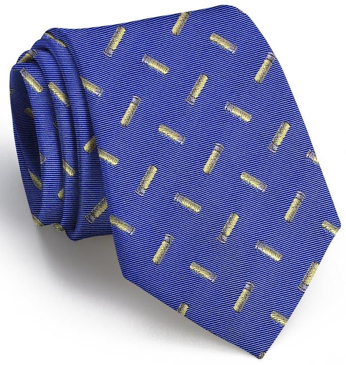 Shotgun Shell English Woven Pedigree: Tie - Blue
