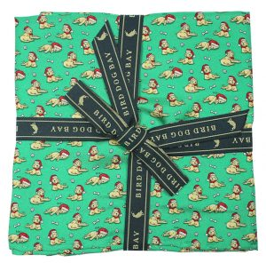 Santa Paws: Pocket Square - Green with Yellow