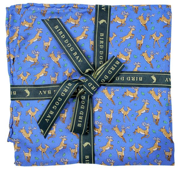 Soaring Stags: Pocket Square - Blue