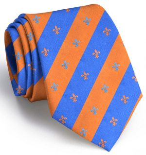 French Connection: Tie - Orange/Blue
