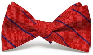 Sheffield Stripe: Bow - Red/Blue
