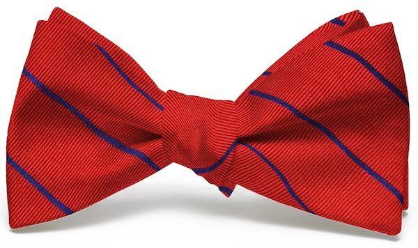 Sheffield Stripe: Bow - Red/Blue
