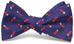 Shotgun Shells English Woven Pedigree: Bow - Navy