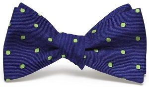 Spot On: Bow - Dark Blue/Lime