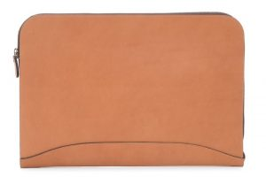 Grant: Zippered Leather Envelope - Mahogany