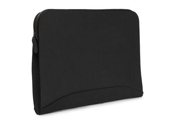 Grant: Zippered Leather Envelope - Black