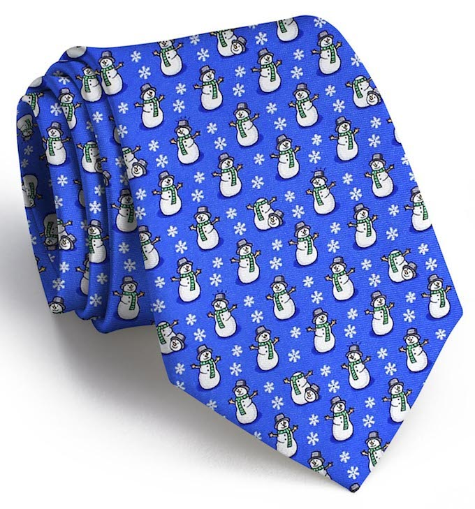 A Frosty Joke: Tie - Blue