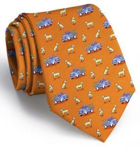 Dogs Love Trucks: Tie - Orange