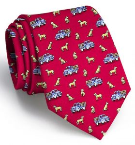 Dogs Love Trucks: Tie - Red