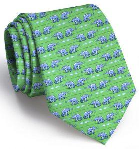 Elephant Bath: Tie - Green