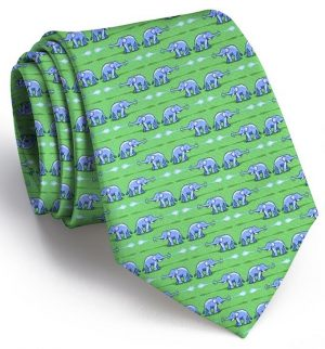 Elephant Bath: Tie - Green