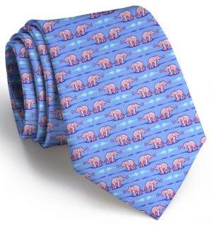 Elephant Bath: Tie - Blue