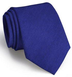 Herringbone Monte: Tie - Navy